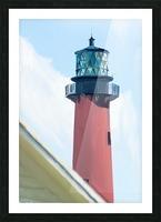 Jupiter Inlet Lighthouse Digital Painting Portrait 52 70 200px Picture Frame print