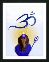 Om Goddess Picture Frame print