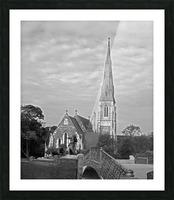 St. Albons Church B&W Picture Frame print