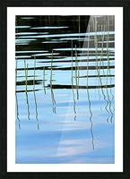 Reeds In The Shallows Abstract Picture Frame print