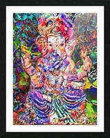 Divertido Ganesh  Picture Frame print
