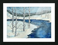 Winter Blues Picture Frame print