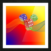 Dice 2 Picture Frame print