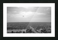 Aerial View of Copenhagen Denmark B&W Picture Frame print