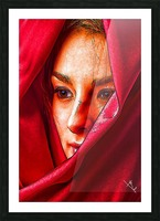 Bianca in red Picture Frame print