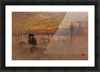 Sunset Red and Gold by Whistler Picture Frame print
