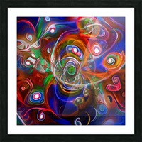 Vortex of Colors Picture Frame print