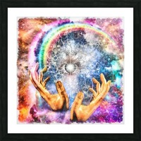 All seeing Eye Picture Frame print