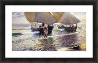 The arrival of the boats Picture Frame print