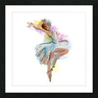 Ballet dancer painting art  Picture Frame print