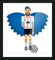 Lionel Messi illustration  Picture Frame print