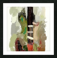 abstract guitar painting  Picture Frame print