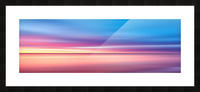 Abstract Sunset V   Panoramic Picture Frame print