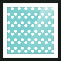 Dark Slate Gray Polka Dots Picture Frame print