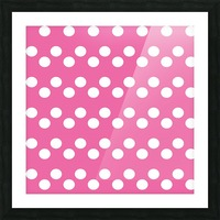 HOT PINK Polka Dots Picture Frame print