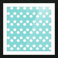 MINT Polka Dots Picture Frame print