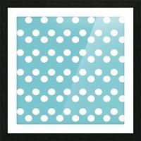 CADET BLUE Polka Dots Picture Frame print