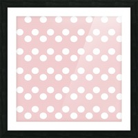 BISQUE Polka Dots Picture Frame print