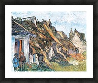 Thatched hut in Chaponval by Van Gogh Picture Frame print