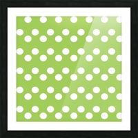 Dark Olive Green Polka Dots Picture Frame print