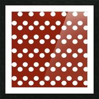 Crimson Polka Dots Picture Frame print