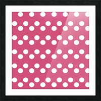 CRANBERRY Polka Dots Picture Frame print