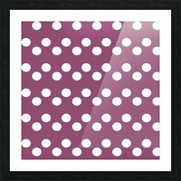 BURGUNDY Polka Dots Picture Frame print