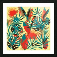 Colorful Abstract Tropical Leaves  Picture Frame print