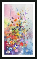 Butterflies and Flowers  Picture Frame print
