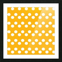 SUNFLOWER Polka Dots Picture Frame print