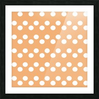 Sandy Brown Polka Dots Picture Frame print