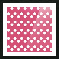 Sweet Pink Polka Dots Picture Frame print