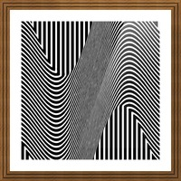 Black and White Abstract Geometric Design 1 Picture Frame print
