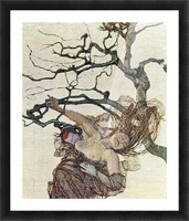 The bad mothers, detail  by Giovanni Segantini Picture Frame print