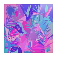Tropical Leaves Abstract  Picture Frame print