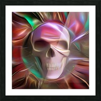 Glowing Skull Picture Frame print