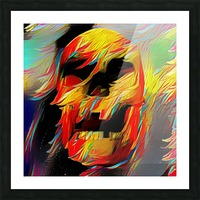 Colorful Skull Picture Frame print
