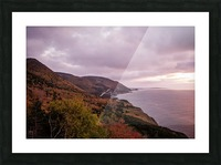 Cabot Trail in the fall Picture Frame print
