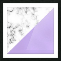 ABSTRACT MODERN PURPLE GLASS MARBLE Picture Frame print