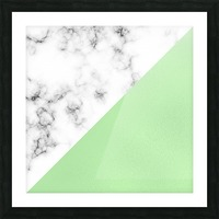 ABSTRACT MODERN GREEN GLASS MARBLE Picture Frame print