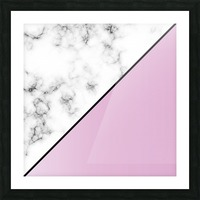 ABSTRACT MODERN PINKY MARBLE Picture Frame print