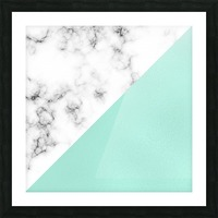 ABSTRACT MODERN TURQUOISE GLASS MARBLE Picture Frame print