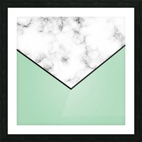 ABSTRACT GREEN PASTEL MODERN MARBLE Picture Frame print