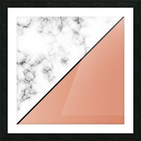 ABSTRACT MODERN ORANGE MARBLE Picture Frame print