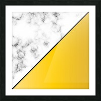 ABSTRACT MODERN YELLOW MARBLE Picture Frame print