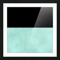 ABSTRACT TURQUOISE GLITTER Picture Frame print