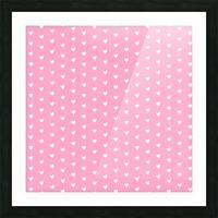 Carnation Pink Heart Shape Pattern Picture Frame print