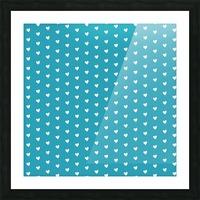 Light Sea Green Heart Shape Pattern Picture Frame print