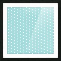 Kids Green Blush Heart Shape Pattern Picture Frame print
