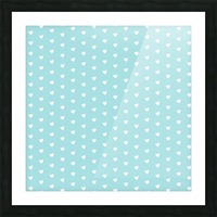 Light Blue Heart Shape Pattern Picture Frame print